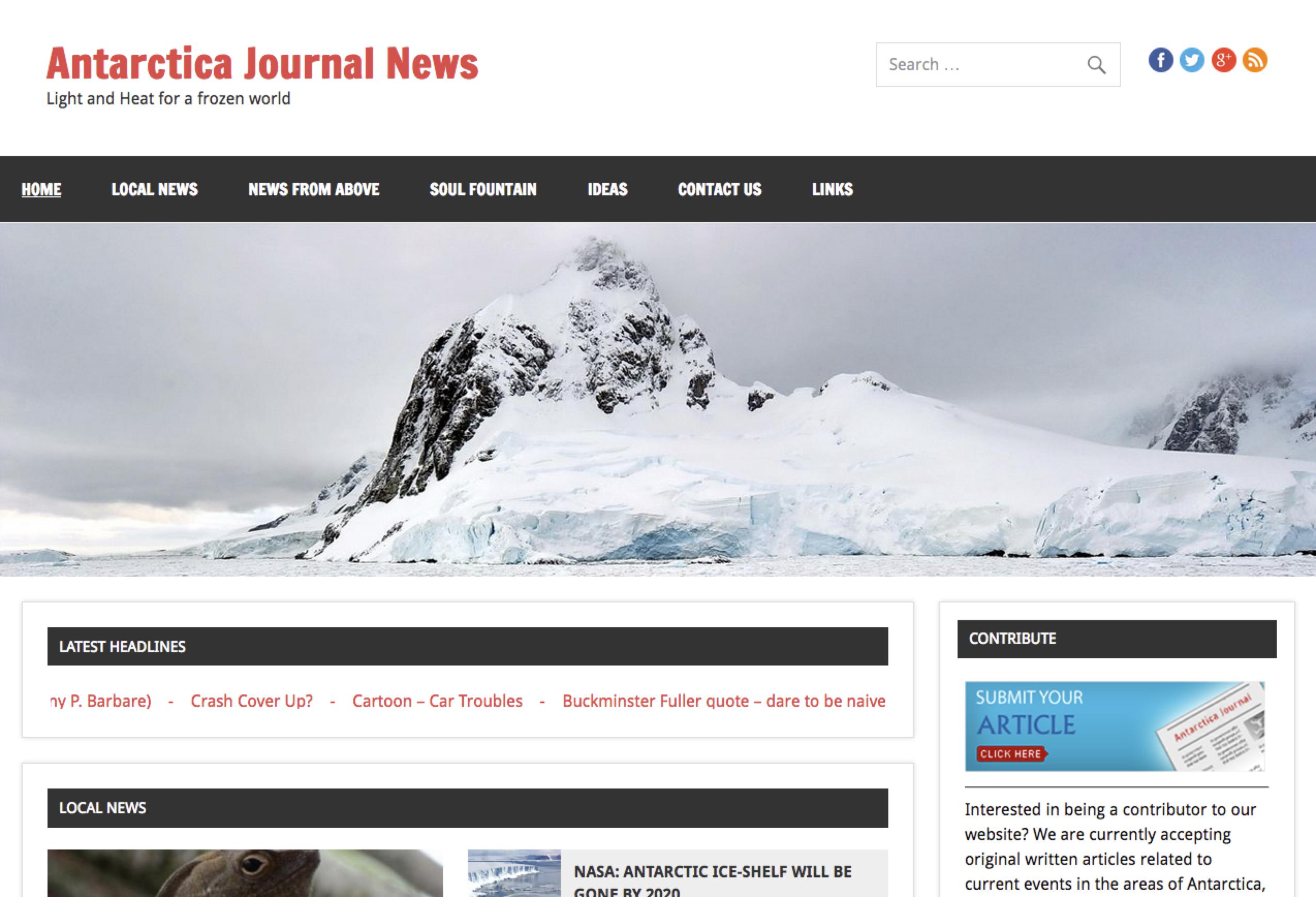 Antarctica Journal Screenshot