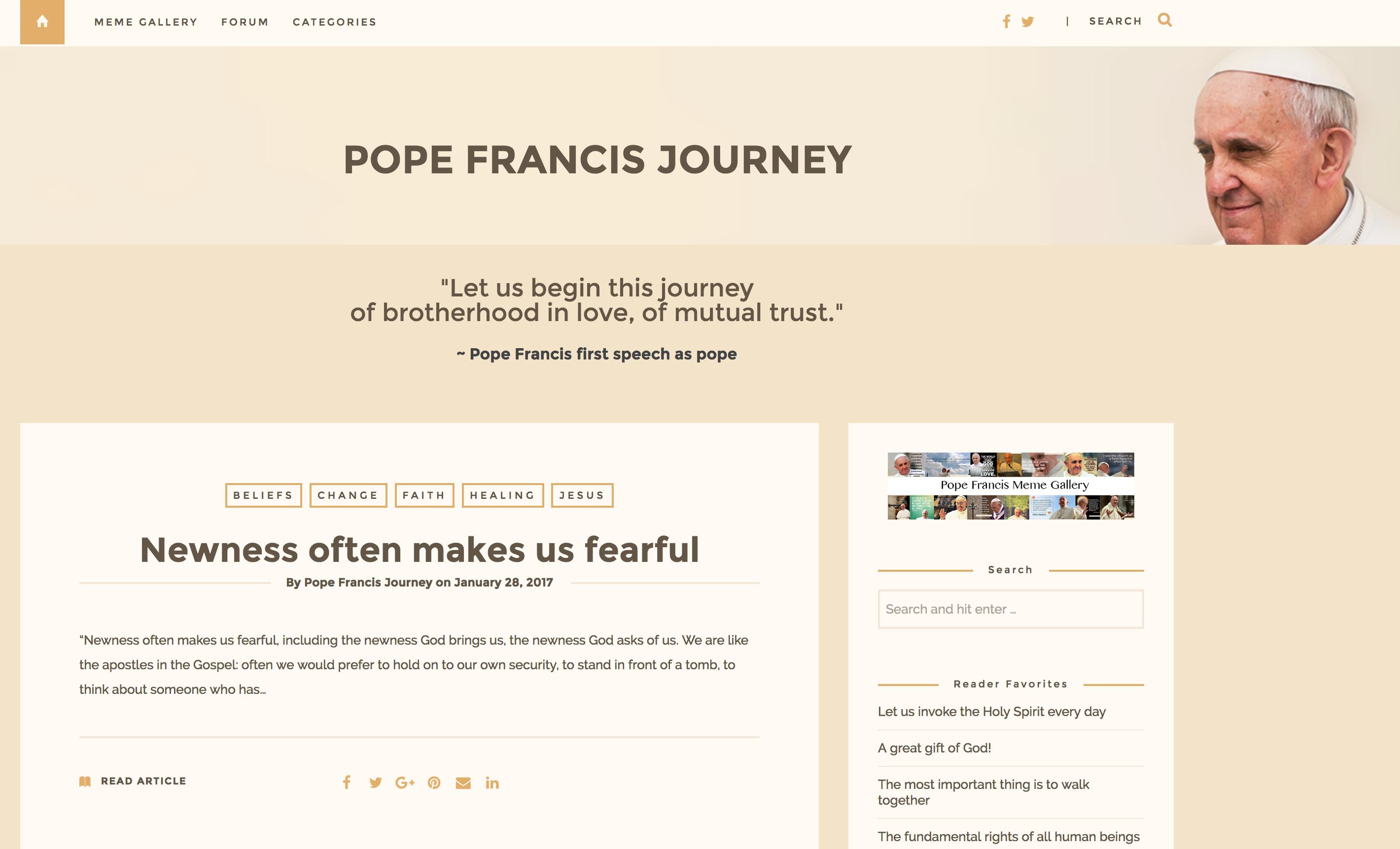 Pope Francis Screenshot